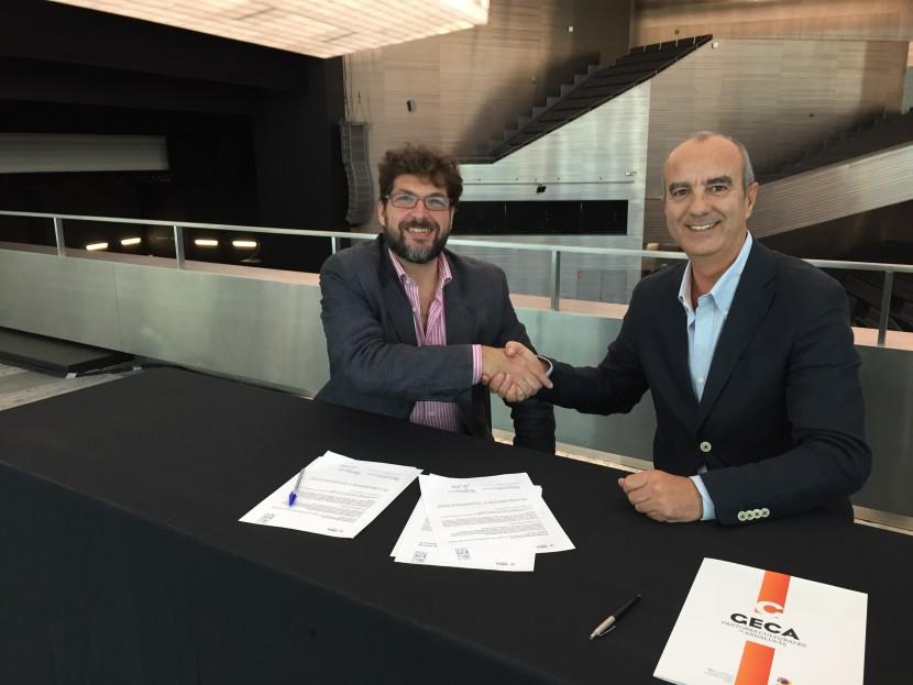 Álvaro Romero, presidente de GECA y Fernando Rodríguez, director de ArtSevilla