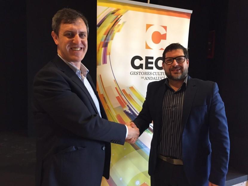 Firma del Convenio de Colabroación entre La Universitat Oberta de Cataluya (UOC) y la Asociación de Gestores Culturales de Andalucía (GECA)